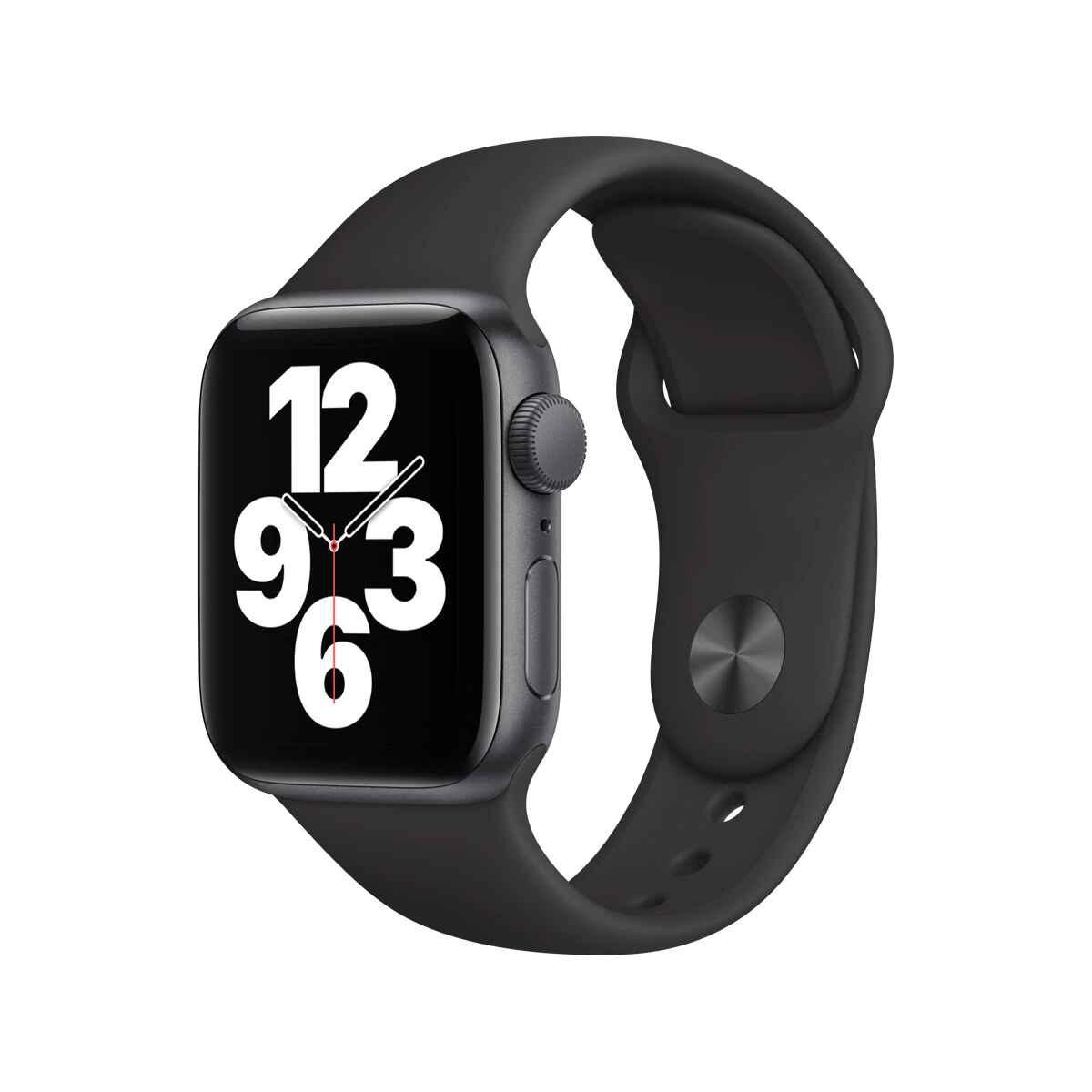 Apple Watch SE GPS, 40 mm Caja de aluminio en gris espacial - Correa deportiva negra talla única