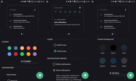 Swift es la nueva alternativa a Substratum: personaliza a fondo la interfaz de los móviles Samsung con Android Oreo