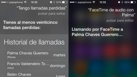 iOS 7 Siri Llamadas y FaceTime