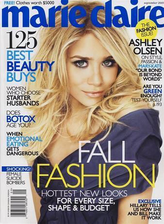 Ashley Olsen en la revista Marie Claire