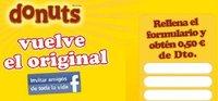 Llévate un descuento online en donuts y su nuevo envase