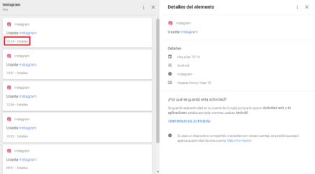 Google Mi Actividad Detalles