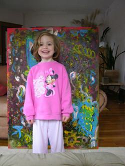 Hacen documental sobre niña que vende sus pinturas por miles de dólares