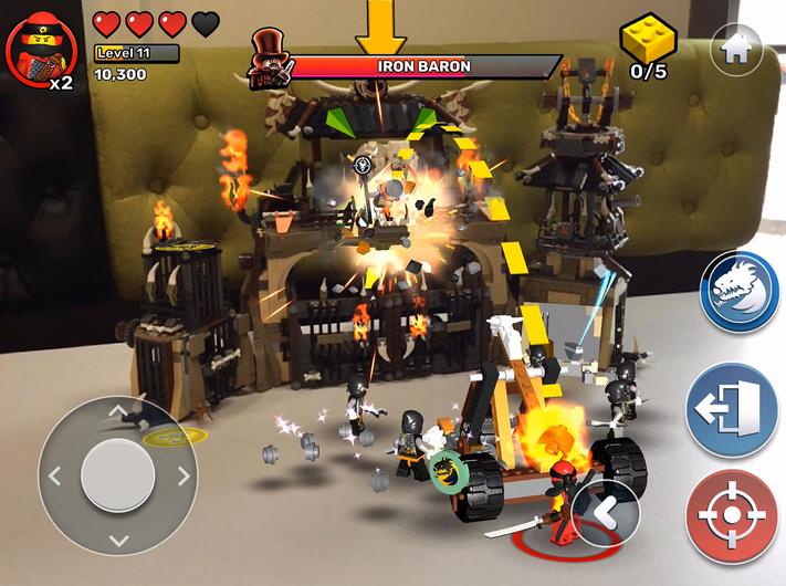 LEGO lanza su nueva aplicación 'Playgrounds' para iOS, que combina componentes físicos con realidad aumentada
