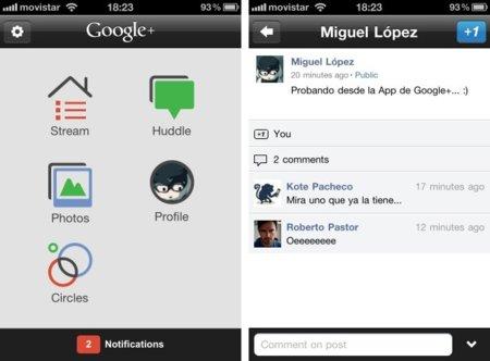 La aplicación oficial de Google+ ya está disponible en la App Store