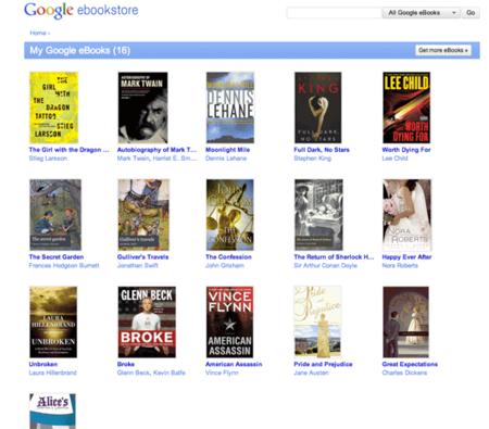 Google eBookstore, se abre la esperada tienda de libros electrónicos