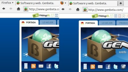 Como reducir de tamaño el botón de Firefox 4