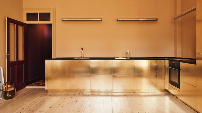 Stine Goya Reform Interiors Offices Kitchens Gold Denmark Copenhagen Dezeen Hero 1 1