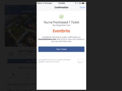 Facebook empieza a probar la venta de entradas directa en su plataforma