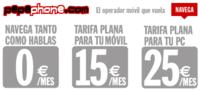 Pepephone ofrece tres tarifas de datos a todos sus clientes