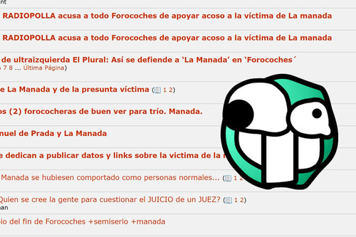 La víctima de 'La Manada' solicita el cierre de Forocoches y Burbuja.info en la denuncia por la publicación de sus datos personales