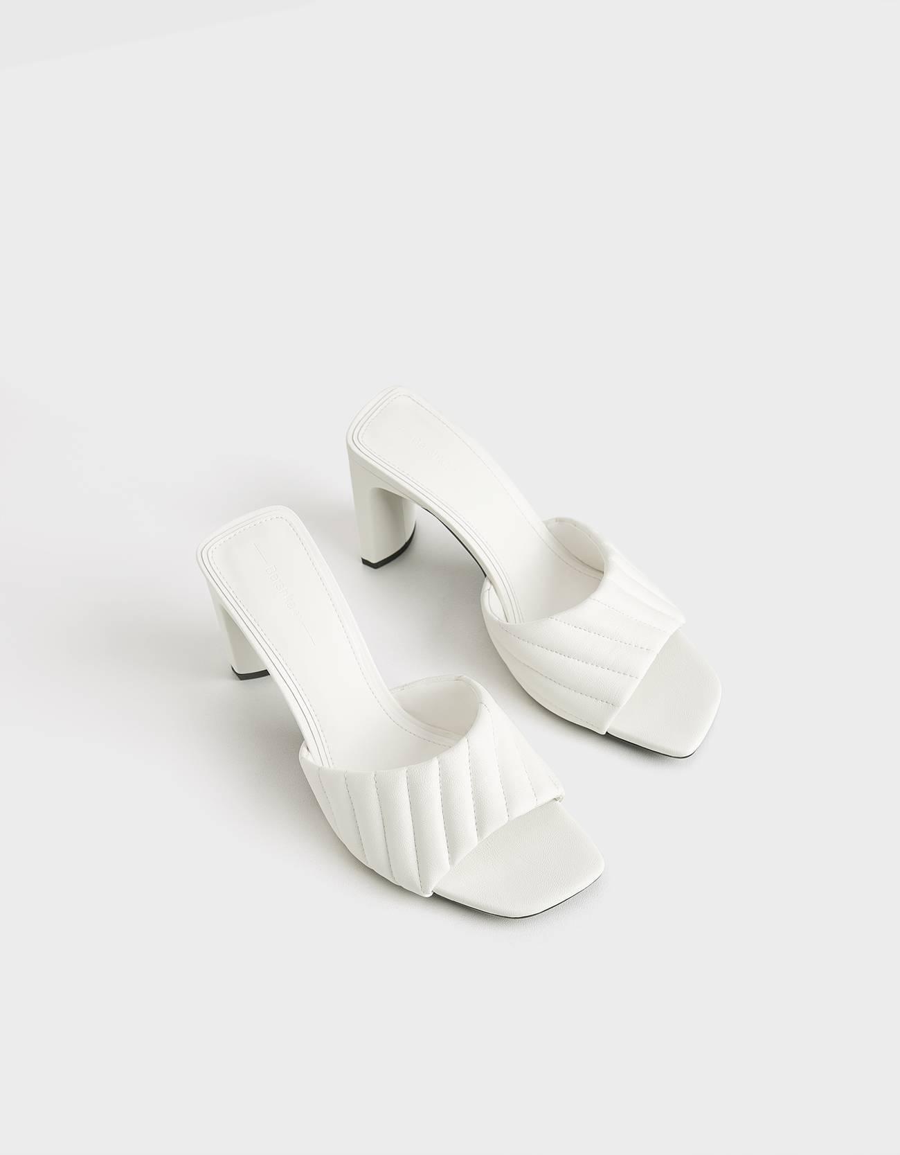 Sandalias de tacón acolchadas