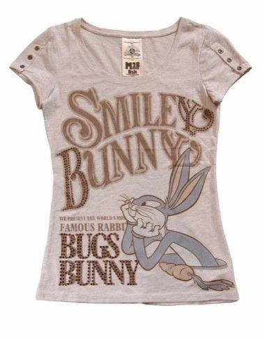 Bershka lanza nuevas camisetas para chica con Bugs Bunny