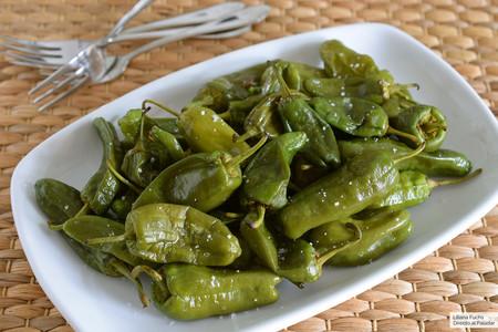 Pimientos verdes fritos en el microondas