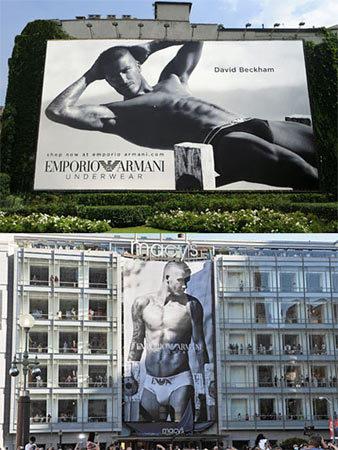 David Beckham continúa siendo imagen de Armani Underwear