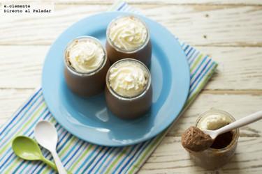 Copa de nata y chocolate casera. Receta