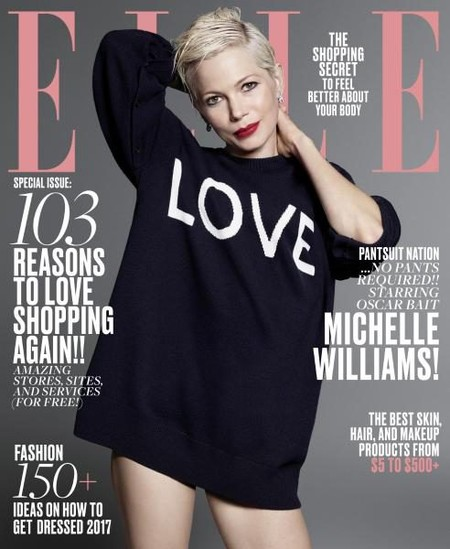 US Elle:  Michelle Williams