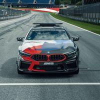 El BMW M8 Gran Coupé es el nuevo Safety Car de MotoGP y ya luce sus colores de guerra en circuito