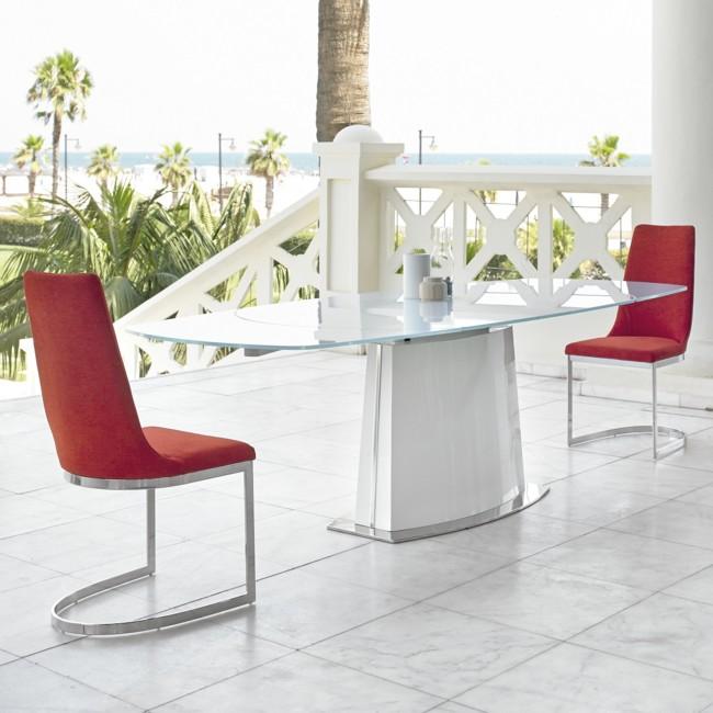 Mesa De Comedor Moderna Cristal Extensible Denmark Ok