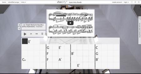 Chordify, analiza los acordes de cualquier canción