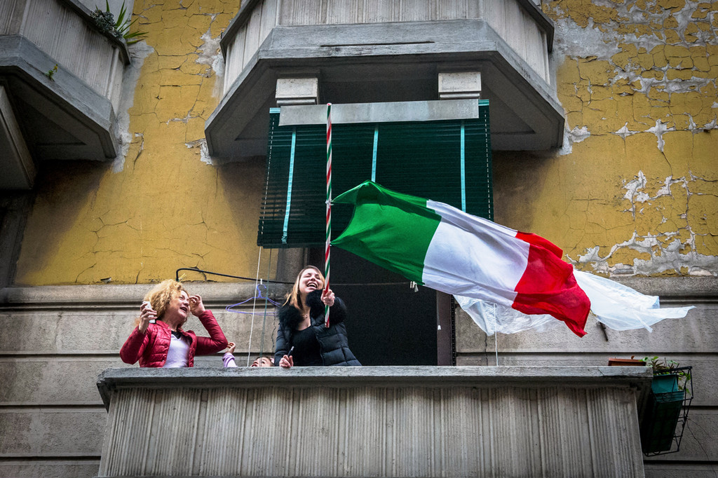 En Italia, una idea está ganando peso durante la crisis del coronavirus: el euroescepticismo