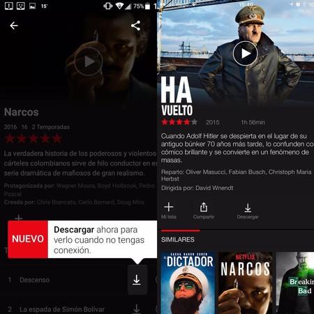Cómo descargar series o películas en Netflix