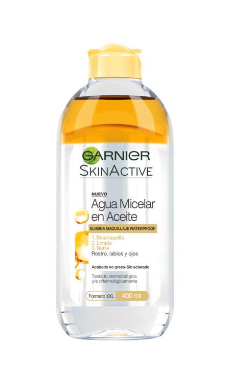 Probamos el nuevo agua micelar en aceite de Garnier