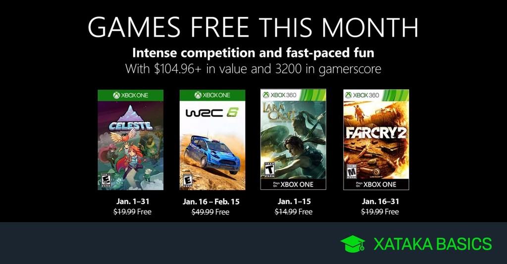 Juegos de Xbox Gold gratis para Xbox One y 360 de enero 2019