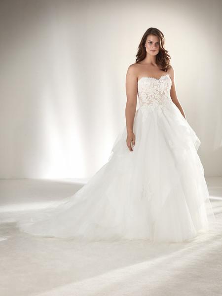 último vendedor caliente diseño moderno disfruta del envío gratis Pronovias apuesta por los vestidos de novia de tallas ...