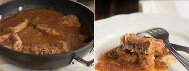 Lengua de ternera en salsa, receta tradicional española