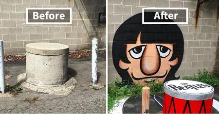 Un genio anónimo está transformando las calles de Nueva York en divertidísimas obras de arte llenas de color