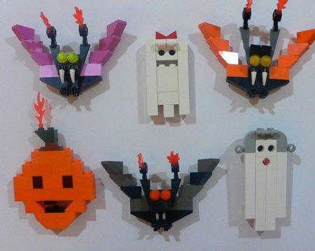 Halloween 2011: imanes con piezas de Lego