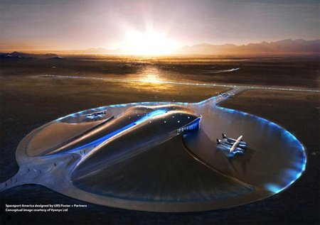 Spaceport: el aeropuerto espacial futurista que se está construyendo en el desierto
