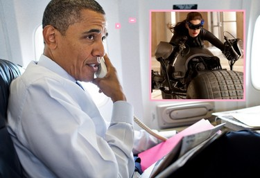 A Obama le flipa Anne Hathaway, <em>¡that's all folks!</em>