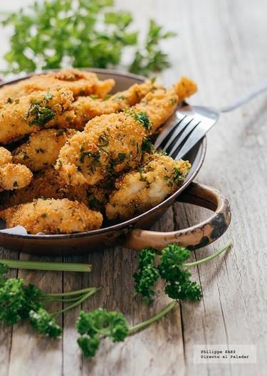 Pollo empanizado al Parmesano y perejil. Receta