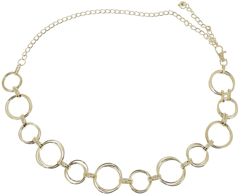 Cinturón de cadena en forma de aros Fashiongen