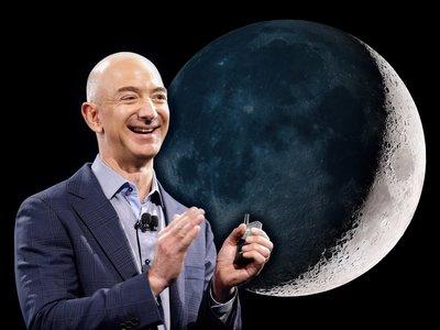 Jeff Bezos también planea llegar a la Luna con Blue Origin y entregar paquetes como si fuese Amazon