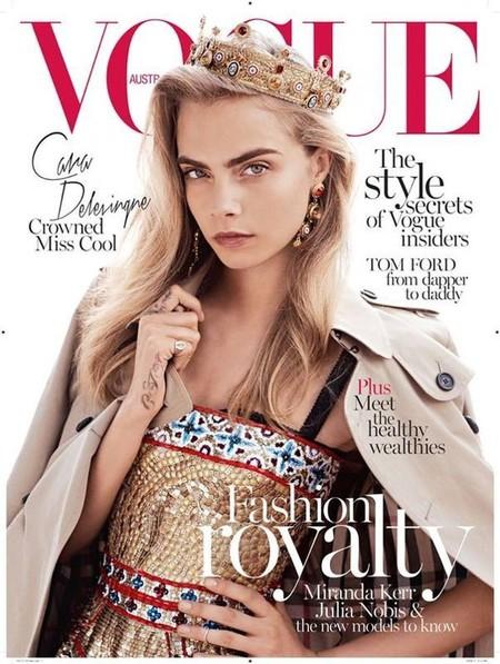 Vogue Australia October 2013 Cara Delevigne by Benny Horne