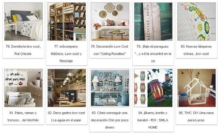 Más de 130 ideas de decoración low cost en los blogs de #decopedia2