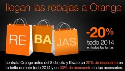 Orange se apunta a las rebajas con descuentos del 20% hasta final de año