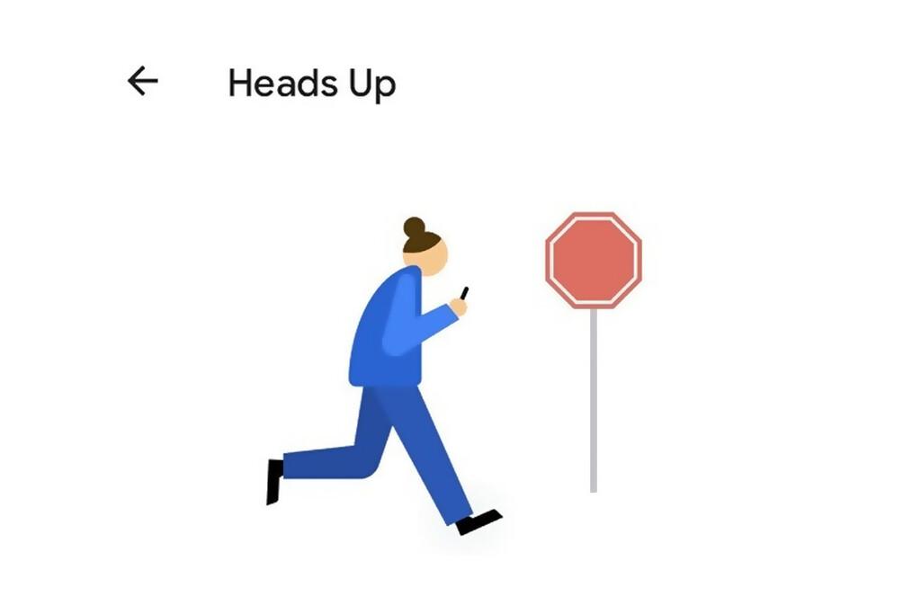 Bienestar Digital te recordará que no uses el amovible mientras andas, con 'Heads Up'