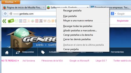 Llega Firefox 24, con mayor control sobre las pestañas