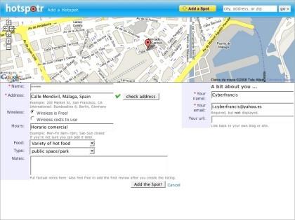 Hotspotr, localizando puntos de acceso wifi a lo largo del mapa