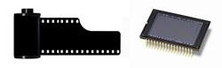 película y sensor digital