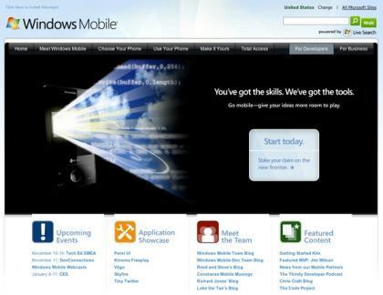 Portal para desarrolladores de Windows Mobile
