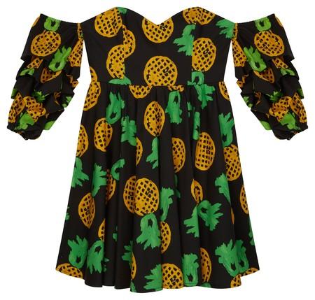 Asos Made In Kenya X Julie Adenuga Off Shoulder Dress In Pineapple Print