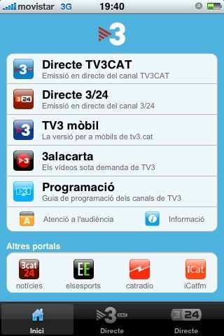 TV3 hace más fácil ver la televisión en el iPhone