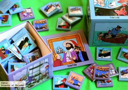 Chocolatinas de Tintin y el capitán Haddock de Neuhaus