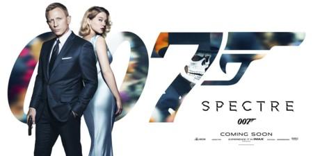 Banner póster de Spectre con Daniel Craig y Léa Seydoux