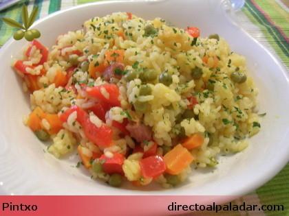 Receta de arroz a la campesina